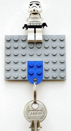 Lego bricks make a great key holder!