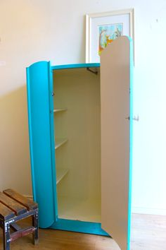Turquoise Art Deco Armoire by Poppyseedliving on Etsy, $575.00