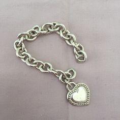 Judith Ripka Dangling Heart Bracelet Silver. Authentic. Stamped Judith Ripka. Stamped 925. Tiffany & Co. Jewelry Bracelets