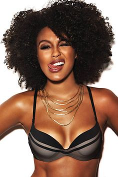 Sheron Menezzes - Brazilian actress.   Go to naturalhairsalonfinder.com and find a stylist for your natural hair.