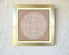 Spirit – Cross-stitch Mandala pattern  This cross-stitch Mandala pattern is personally and lovingly created by me. I find the geometry of the Mandala patterns the most enjoyable to cross-stitch. I never design, they just evolve/unfold during stitching. I simply work from the centre outwards, such a relaxing journey! It was my first big one and it got me into the right spirit; from that moment on cross-stitching mandalas became my addiction.  Pattern size is 125 x 125 stitches Worked on 14…