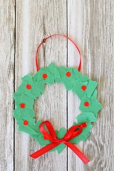 Perfect Homemade Christmas Ornament for Toddlers and Preschoolers: Tear Art Ornament Christmas Craft for Kids~ BuggyandBuddy.com