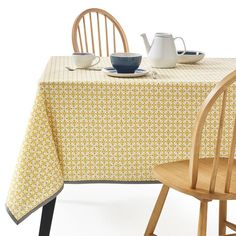 Azilia Patterned Tablecloth, Yellow La Redoute Interieurs Add a dash of colour to every mealtime with this vibrant and boldly patterned Azilia tablecloth.More Details:Micro-motif patterned cotton Yellow Sofa, Yellow Table, Modern Furniture, Home Furniture, Outdoor Furniture, French Home Decor, Amber Interiors, Table Linens, Colors