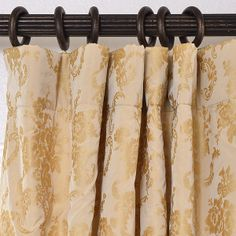 Curtain Header guide- Half Price Drapes - pole pocket header hung on rings French Pleat, Pleated Curtains, Valance Ideas, Curtain Ideas, Curtains With Rings, Custom Curtains, Custom Window Treatments, Curtain Designs, Half Price