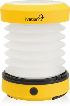 Ivation LED Camping Lantern Collapsible & Rainproof, Flashlight torch Mini Lamp with hanging handle, 2 Lighting levels, Battery Operated, Portable Handy and Easy to store. Powerful flashlight can be expended to use as a Lantern, with the built in hanging handle it can be hung almost anywhere. Portable Handy and Easy to store, for Camping, Hiking, Jogging, Boating, Cycling, in tent, Outdoor Sports. Operates on 3 AA batteries that can easily be changed (Not Included). Soft rubber button and...