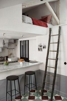 14 photos to peek inside Paris' coolest tiny apartment