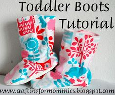 I get so tired of wasting money on shoes that are purely fashion over function so I decided it was time to come up with my own toddler boot tutorial.