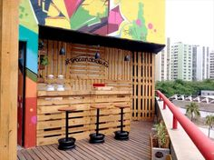 If you have enough space at your outdoor area and you love drinking then make a bar for your own self. We have designed and planned a bar by recycling the old wooden pallets. The pallet woods are not so touch to manage. You can also make the floor from thin and long boards of pallets.