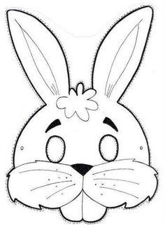 25 Moldes de antifaz para niños - Educaciín Preescolar - Alumno On Felt Crafts, Diy And Crafts, Arts And Crafts, Paper Crafts, Animal Masks For Kids, Mask For Kids, Bunny Templates, Bunny Mask, Diy Ostern