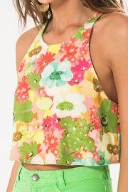 blusa cropped gode floral batuba