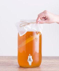 Loving this Kombucha Drinks Set on Canning Food Preservation, Preserving Food, Kombucha Drink, Make Your Own Kombucha, Fermenting Jars, Canning Recipes, Gut Health, Yummy Drinks, Tea