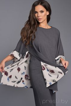 Teffi style 1285 tunic gray Source by inesnorth Mein Style, Patchwork Dress, Blouse Styles, Hijab Fashion, Dress Patterns, Plus Size Fashion, Colorful Shirts, Autumn Fashion, Fashion Design