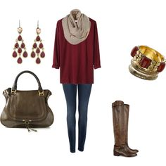 oversized sweaters, skinnies, and boots. ALWAYS boots.