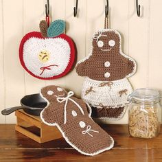Hot Pad Gingerbread Man Scented Hot Pad by heffernanscrafts