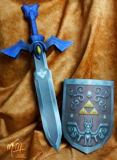[the legend of zelda universe] master sword & hero shield