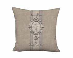 Rustic Jardin d'Hiver Linen Burlap French Grain Sack Style Pillow - 12x 14x 16x 18x 20x 22x 24x 26x 28x 30x 32x Inch Pillow Cover by artanlei on Etsy