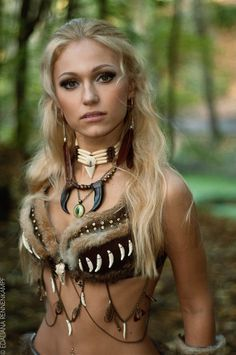 primitive headdress fantasy | woman larp fantasy cosplay more chloe boards events goddesses fantasy ...
