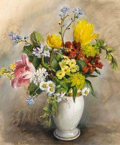 Elise Claudine Arntzenius    Flower Still Life    20th century