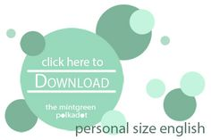 The Mintgreen Polkadot | Download: Printable Filofax Pages 1 Day on 1 Page for Personal Size Planners | http://themintgreenpolkadot.com