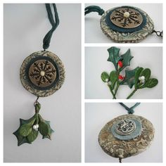 AJE CoM November - seasonal ornament in polymer and bronze clay ( with Lesley Watt.)