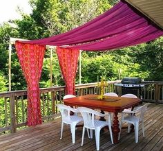 Awesome DIY Backyard Shade Ideas 20 Easy Ways To Create Shade For Your Deck Or Patio Diy Outdoor - The most vital part in any yard landscaping suggestion i Deck Shade, Backyard Shade, Backyard Canopy, Outdoor Shade, Canopy Outdoor, Diy Pergola, Backyard Patio, Pergola Ideas, Garden Canopy