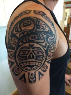 Custom Haida style tattoo