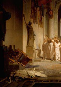 """The Death of Caesar"" (detail), 1859-67, Jean-Léon Gérôme."