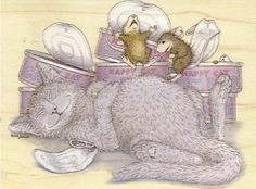 Cat&Mouse paintings. Ellen Jareckie