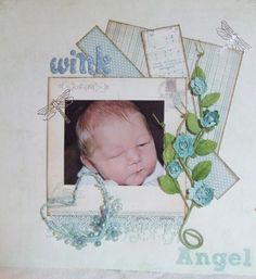 Baby boy scrapbook idea