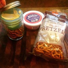 Pin for Later: This Snack Hack Can Help You Lose Weight Faster Pretzels With Cream Cheese Mix chopped fruit and cinnamon or veggies and herbs into the cream cheese for a sweet or savory twist.