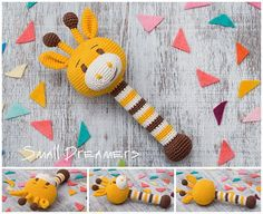 Giraffe rattle Crochet rattle Baby rattle toy Animal Crochet toy Baby gift Organic teether Cotton yarn Baby Shower gift Baby teething toy Newborn gift ____________________________________ Babies are so special we just want to surround them with only the purest things. Weve made a