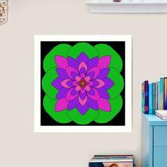 """Mandala Lotus Flower "" Art Print by Pultzar   Redbubble"