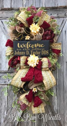 Custom Wreath Reserved for Lisa