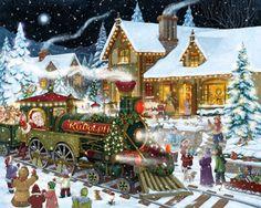 Santa's Express Jigsaw Puzzle   Christmas - Santa   Vermont Christmas Co. VT Holiday Gift Shop