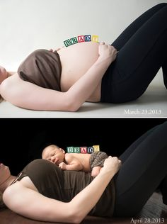 maternity newborn pose