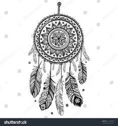 Ethnic american indian dream catcher vector 1844192 - by transia on vectorstock® drawings of dream Dream Catcher Sketch, Dream Catcher Vector, Dream Catcher Mandala, Dream Catcher Tattoo Design, Dream Catcher Art, Doodle Art Drawing, Dark Art Drawings, Mandalas Drawing, Mandala Tattoo Design
