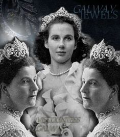 Vere Viscountess Galway amazing #diamond and #historic #tiara  couronnes et tiares royale s#jewelry #tiaratuesday #tiaras #crowns #weddinggifts #viscountess #diademe #royaljewelry  #tiaramania #noble #wedding