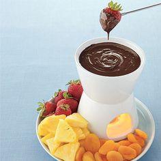 Low-Calorie Chocolate Fondue #recipe