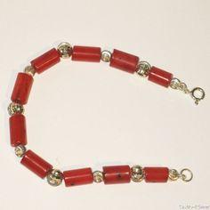 Schöne Armband aus Korallen und Silber 925 von CastroRoemer auf Etsy