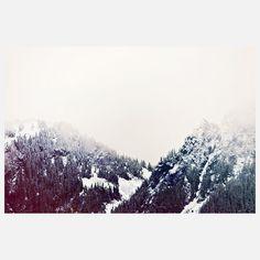 Vintage Snowy Mountain