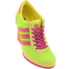 new style c5b95 6aaf8 Adidas Women ObyO JS Arrow Wedge Neon Camo - Jeremy Scott (slime   vivid  yellow