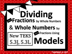 Divide Unit Fractions by Whole Numbers & Whole Numbers by Unit Fractions Add And Subtract Fractions, Adding And Subtracting, Dividing Fractions, Guided Practice, 5th Grade Math, Calculus, Common Core Standards, School Resources, School