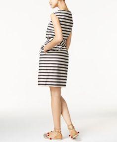 633883623d0c Weekend Max Mara Stella Striped Belted Dress - Black 12 Max Mara