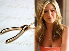 gold wishbone necklace $39 - Etsy Room of Your Own