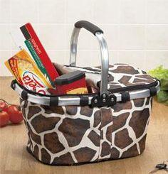 Giraffe Folding Shopping Basket  $8.95
