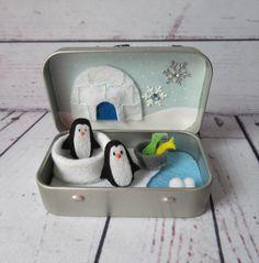 Diy Arts And Crafts, Felt Crafts, Matchbox Crafts, Mint Tins, Altered Tins, Altoids Tins, Tiny Dolls, Tin Toys, Felt Toys