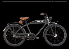 A Felt Cruiser bicycle with MP-Army paint.