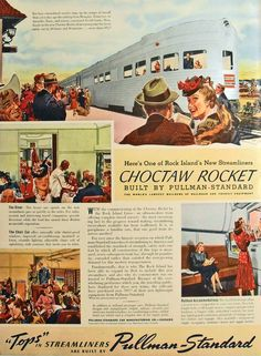 Vintage Ads - Sunday Surplus: The Luxury of Rail Travel in the Forties