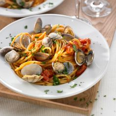 Receita Esparguete com amêijoas por Equipa Bimby - Categoria da receita Pratos principais Peixe
