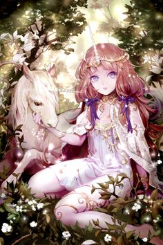Best representation descriptions: Beautiful Girl with Unicorn Related searches: Unicorn Girl Drawings,Anime Unicorn Girl,Kawaii Unicorn Gir. Anime Love, Fan Art Anime, Anime Artwork, Anime Art Girl, Anime Girls, Anime Chibi, Anime Fairy, Manga Girl, Anime Style